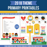 Primary 2018 Birthday Bundle Digital Download Pdfs