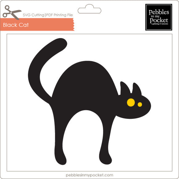 Black Cat Digital Download SVG & Pdf