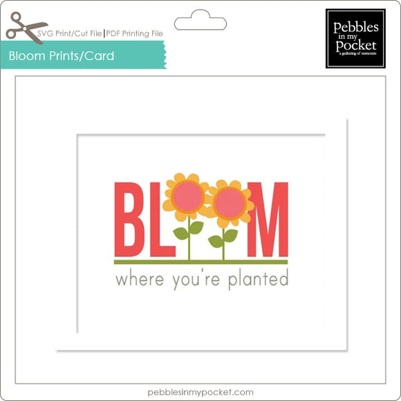 Bloom Where You're Planted Prints/Card Digital Download Print/Cut SVG & Pdf