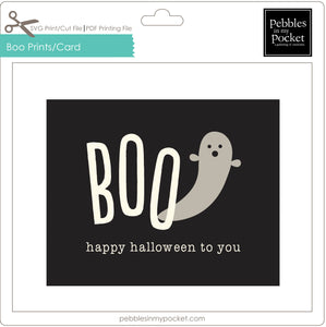 Boo Happy Halloween Prints/Card Digital Download Pdf
