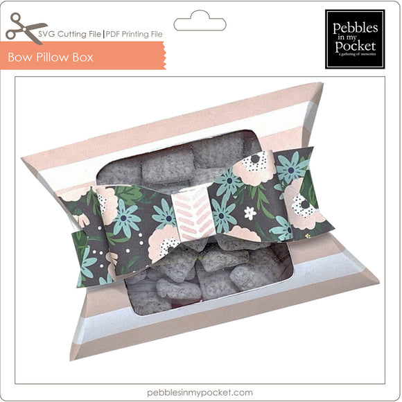 Bow Pillow Box Digital Download SVG & Pdf