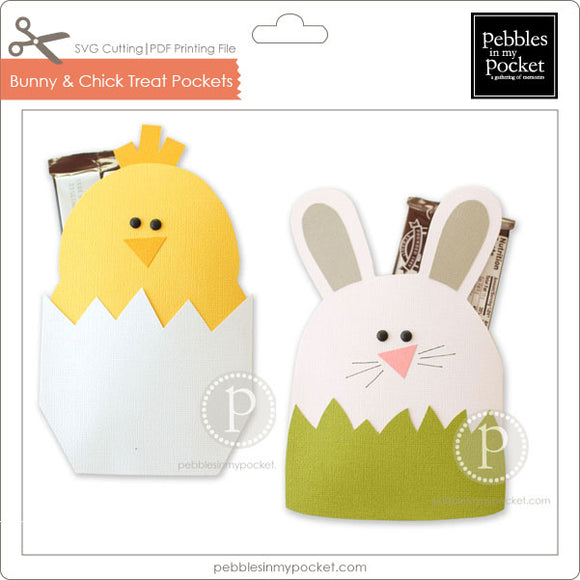 Bunny & Chick Treat Pockets Digital Download SVG & Pdf