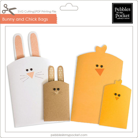 Bunny & Chick Bags Digital Download SVG & Pdf