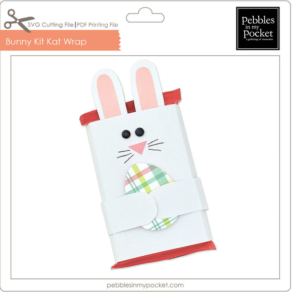 Bunny Kit Kat Wrap Digital Download SVG & Pdf