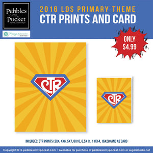 Primary 2016 CTR Prints/Card Digital Download Pdf