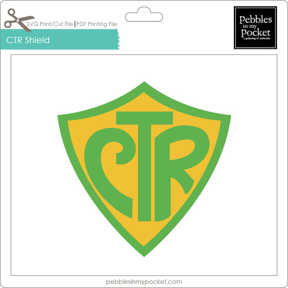 CTR Shield Digital Download Print/Cut SVG & Pdf