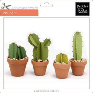 Cactus Set Digital Download SVG & Pdf