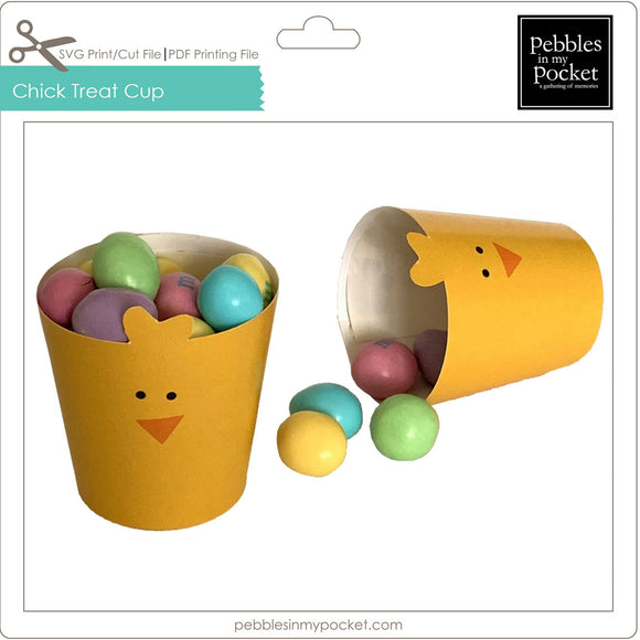 Chick Treat Cup Digital Download SVG & Pdf
