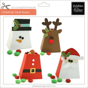 Christmas Treat Boxes Digital Download SVG & Pdf