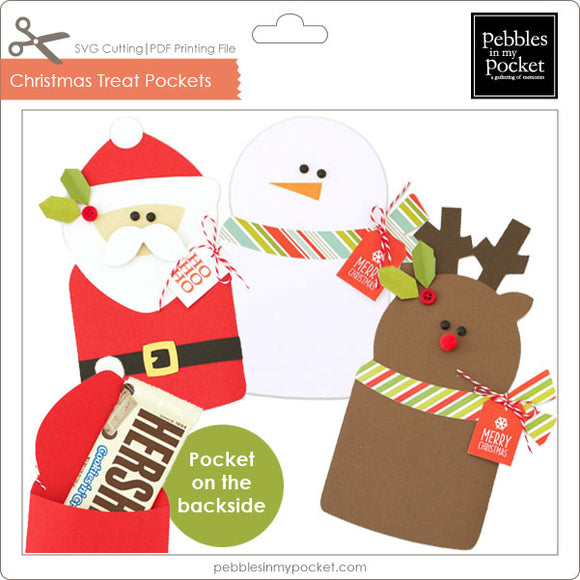 Christmas Treat Pockets Digital Download SVG & Pdf