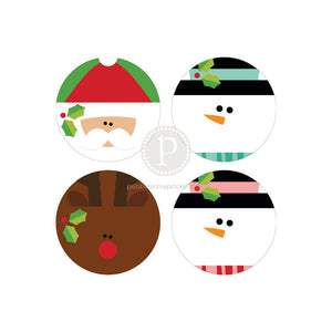 "Christmas 2"" Circles Digital Download Pdf"