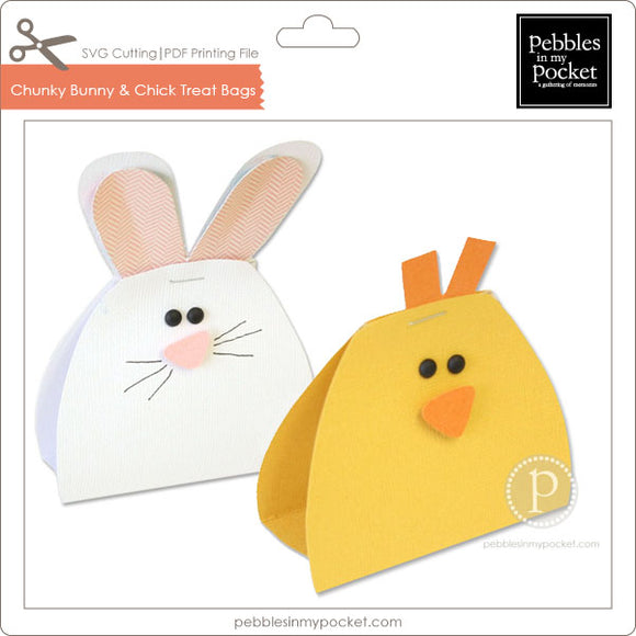 Chunky Bunny & Chick Treat Bags Digital Download SVG & Pdf
