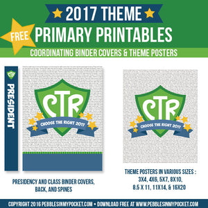 Primary 2017 Class Binders and Theme Posters Digital Download Pdf & Jpgs FREE