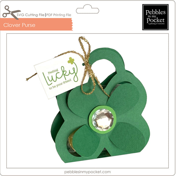 Four Leaf Clover Purse Digital Download SVG & Pdf