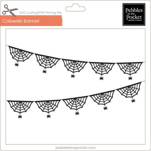 Cobweb Banner Digital Download SVG & Pdf