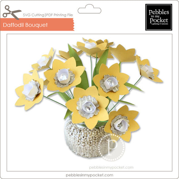 Daffodil Bouquet Digital Download SVG & Pdf