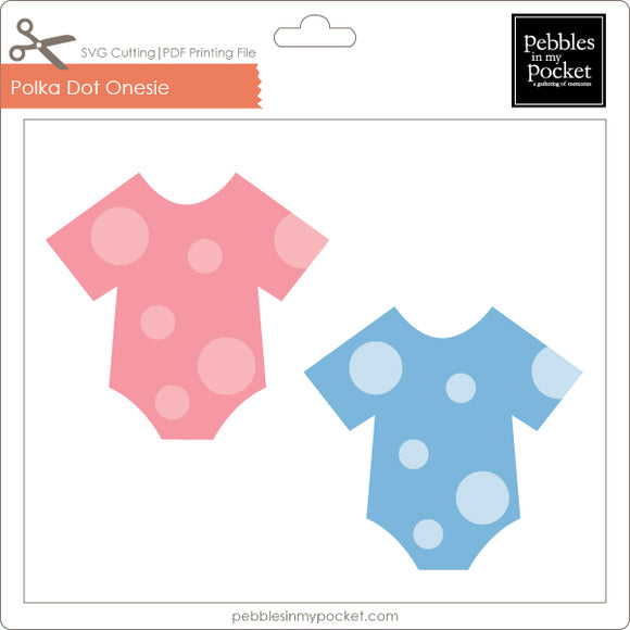 Polka Dot Onesie Digital Download SVG & Pdf