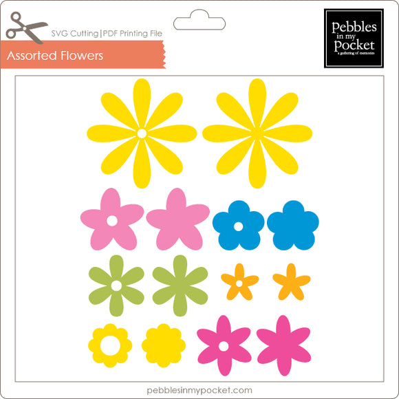 Assorted Flowers Digital Download SVG & Pdf