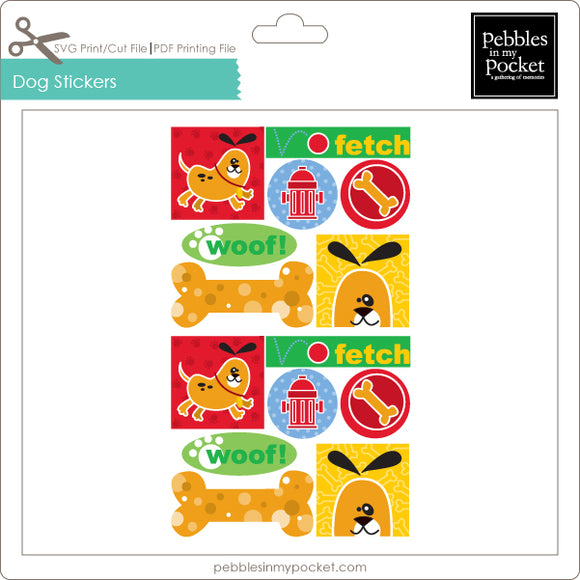 Dog Stickers Digital Download Print/Cut SVG & Pdf