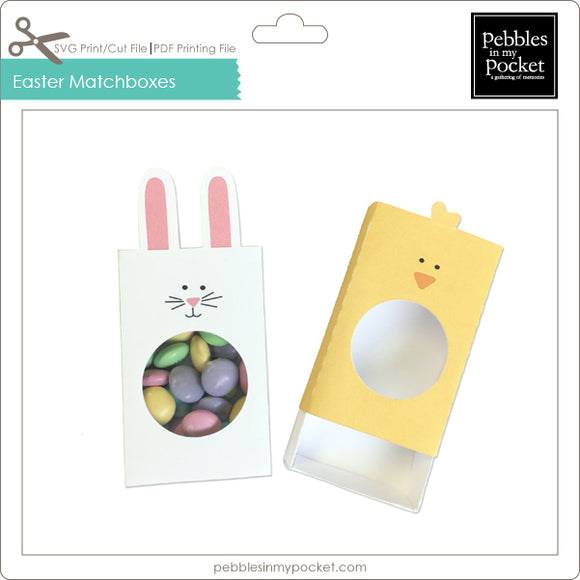 Easter Matchboxes Digital Download Print/Cut SVG & Pdf