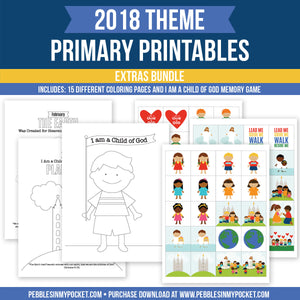 Primary 2018 Extras Bundle Digital Download Pdfs