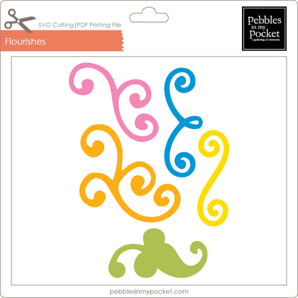 Flourishes Digital Download SVG & Pdf