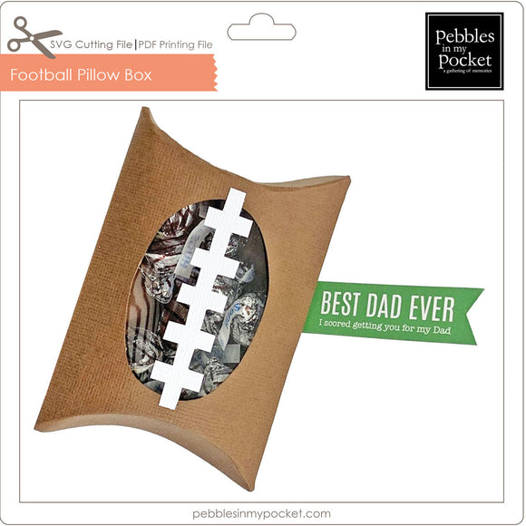 Football Pillow Box Digital Download SVG & Pdf