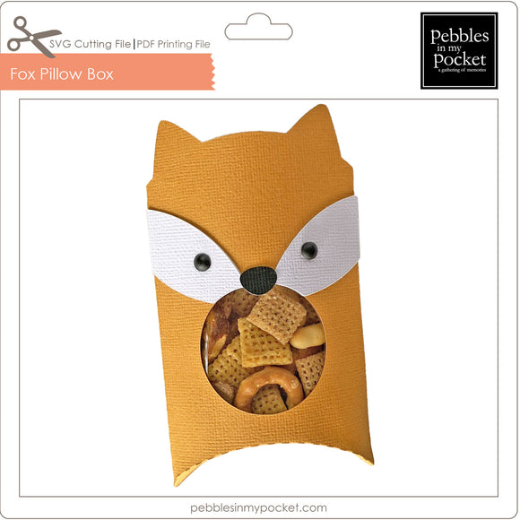 Fox Pillow Box Digital Download SVG & Pdf