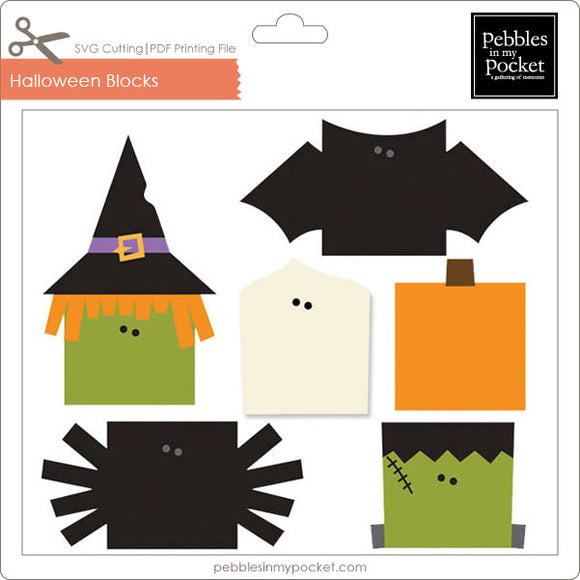 Halloween Blocks Digital Download SVG & Pdf