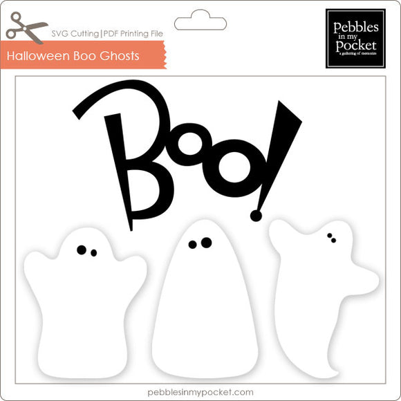 Boo Ghosts Digital Download SVG & Pdf