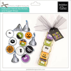 Halloween Friends Kiss Stickers & Nugget Wraps Digital Download Print/Cut SVG and Pdf