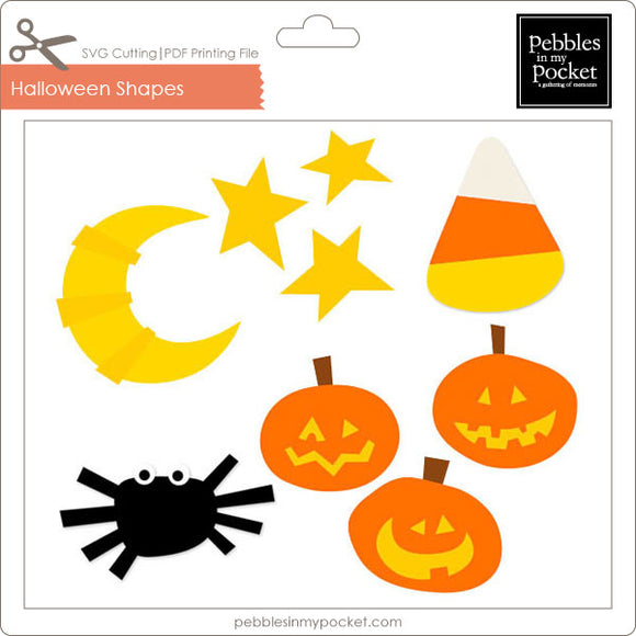 Halloween Shapes Digital Download SVG & Pdf