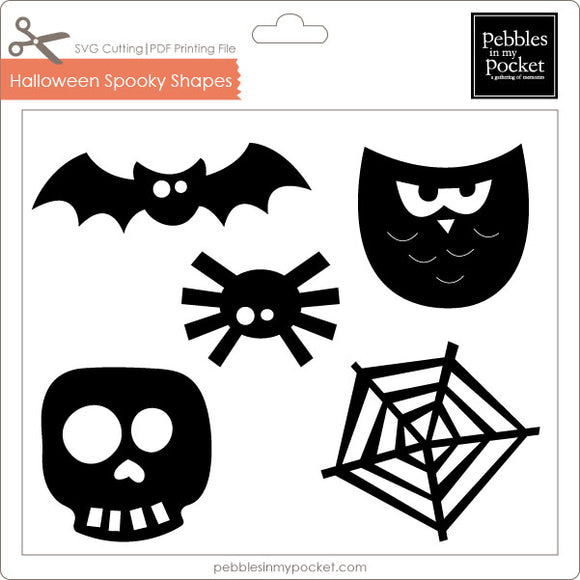 Halloween Spooky Shapes Digital Download SVG & Pdf