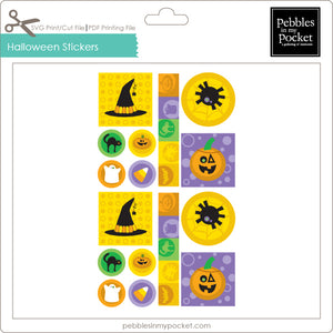 Halloween Stickers Digital Download Print/Cut SVG & Pdf