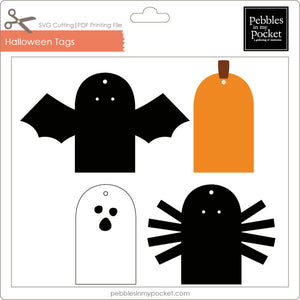 Halloween Tags Digital Download SVG & Pdf