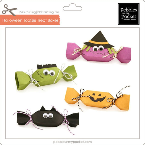 Halloween Tootsie Treat Boxes Digital Download SVG & Pdf