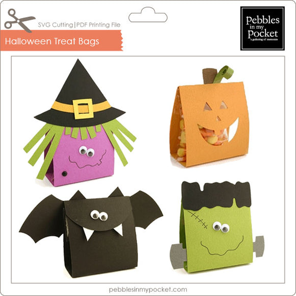 Halloween Treat Bags Digital Download SVG & Pdf
