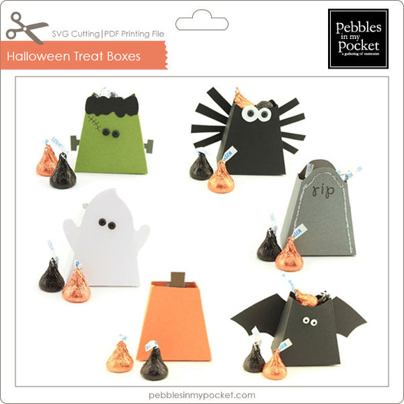 Halloween Treat Boxes Digital Download SVG & Pdf