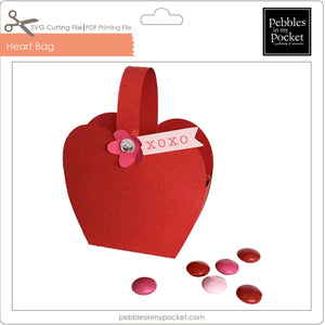 Heart Bag Digital Download SVG & Pdf