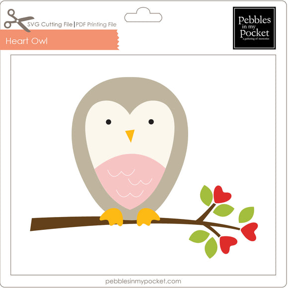 Heart Owl Digital Download SVG & Pdf