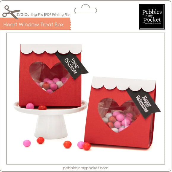 Heart Window Treat Wrap Digital Download SVG & Pdf