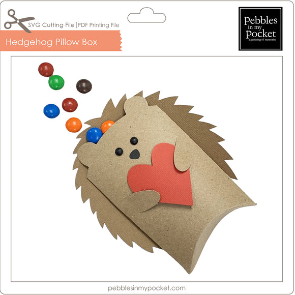 Hedgehog Pillow Box Digital Download SVG & Pdf