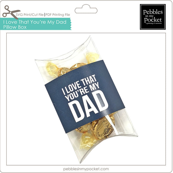 I Love that You're My Dad Pillow Box Digital Download Print/Cut SVG & Pdf