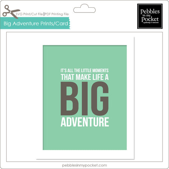 It's all the Little Moments Prints/Card Digital Download Print/Cut SVG & Pdf