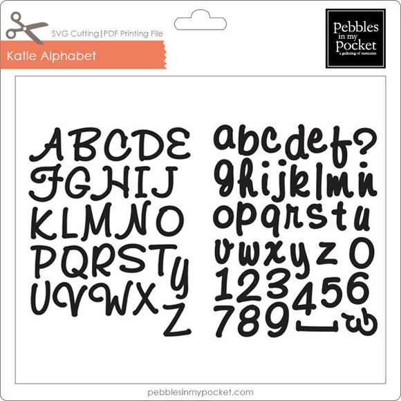 Katie Alphabet Digital Download SVG & Pdf