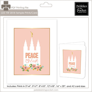 2018 LDS YW Pink Temple Prints/Card Digital Download