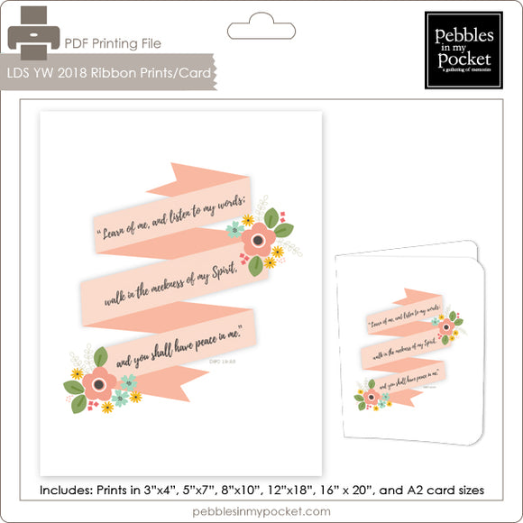 2018 LDS YW Ribbon Prints/Card Digital Download