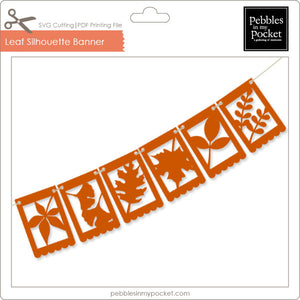 Silhouette Leaf Flags Digital Download SVG & Pdf