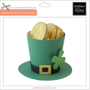 Leprechaun Hat Treat Cup Digital Download SVG & Pdf
