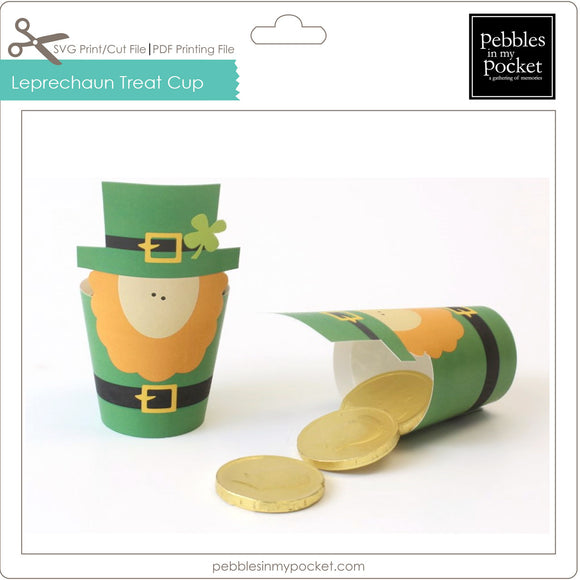Leprechaun Treat Cup Digital Download SVG & Pdf